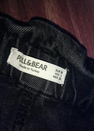 Джинсы черные pull&bear2 фото