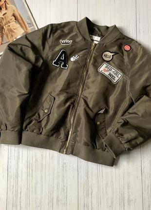 Куртка бомпер спортивная с воротником стойка h&m