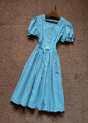 Винтажное платье миди ретро стиль