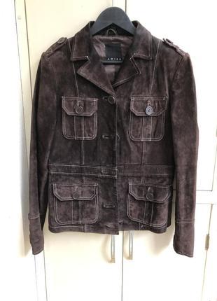 Куртка пиджак , замша