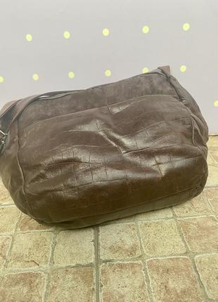 Большая, кожаная сумка-мешок, италия4 фото