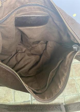 Большая, кожаная сумка-мешок, италия6 фото