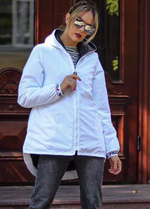 Распродажа 🔥белая куртка парка демисезонная 42-52р. 💣