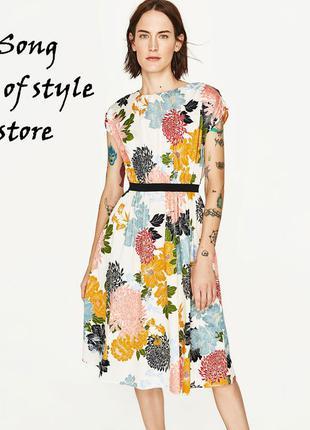 Zara платье с цветочным принтом оригинал