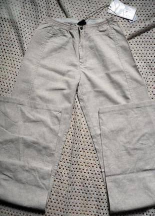 Легкие льняные брюки на лето от delfin.турция w25l32, на бедра до 90 см