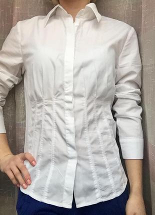 Белая рубашка простроченная roccobarocco
