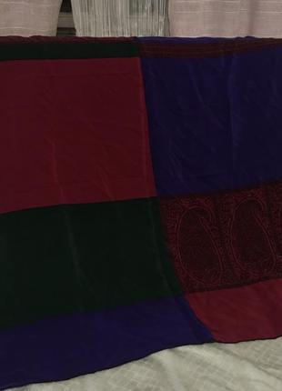 Vakko шёлковый платок глубоких сказочных цветов