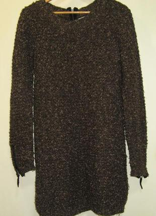 Тепленькое платье кашка  oversize с замочками