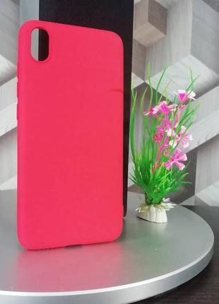 Силиконовый чехол для xiaomi redmi 7a красный