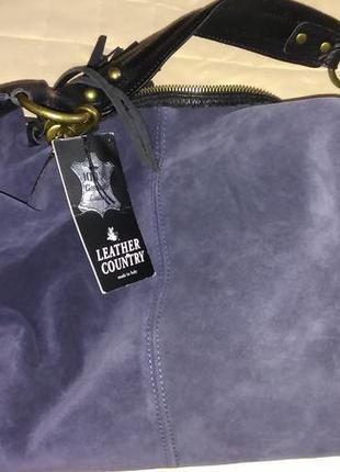 Новая замшевая сумка италия