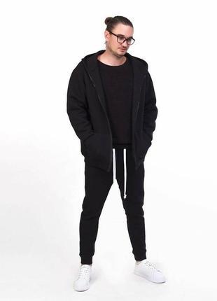 Спортивный костюм мужской котон флис теплый черный люкс цвета разные