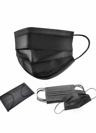Медицинская защитная маска для лица черная