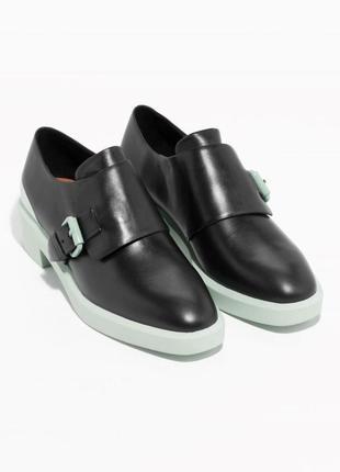 Дизайнерские лоферы туфли натуральная кожа