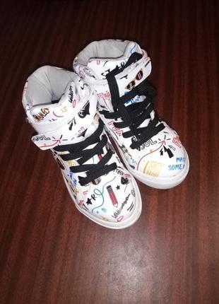 Ботинки 19,7см ботиночки хайтопы осень