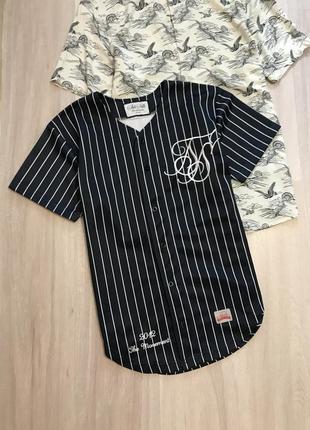 Футболка спортивна в полоску сорочка блуза / спортивная рубашка топ на пуговицах