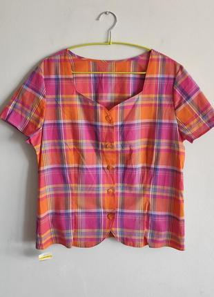 Хлопковая рубашка в клетку m&s