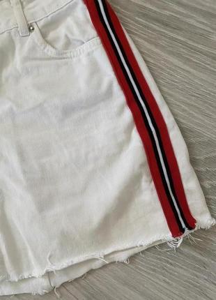 Белан джинсовая юбка с лампасами asos