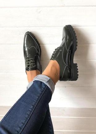 Кожаные туфли броги италия 🇮🇹 geox respira р.35, 36; 37; 39; 40