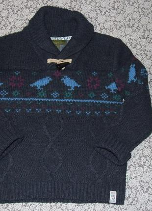 Теплый свитер кофта мальчику 5 - 6 лет ted baker