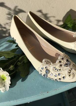 Свадебные балетки туфли лодочки