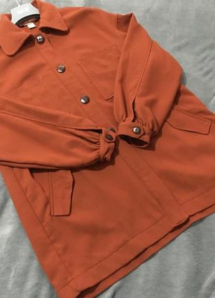 Оверсайз рубашка-пальто h&m🧡
