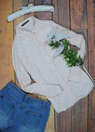 Розовая рубашка в белый горошек atmosphere размер uk14 (l) блуза