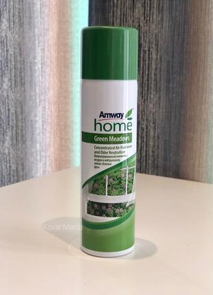 Концентрований освіжувач повітря і нейтралізатор запаху green meadows™ amway home™