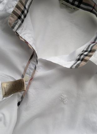 Белоснежная рубашка burberry brit