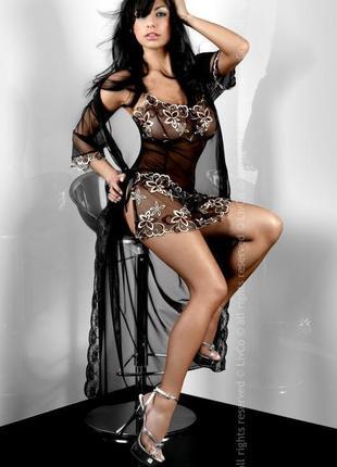 Женский комплект халат сорочка livia corsetti hera