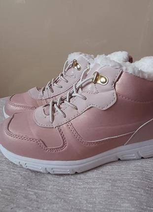 Новые утепленные ботиночки h&m стелька 21 см