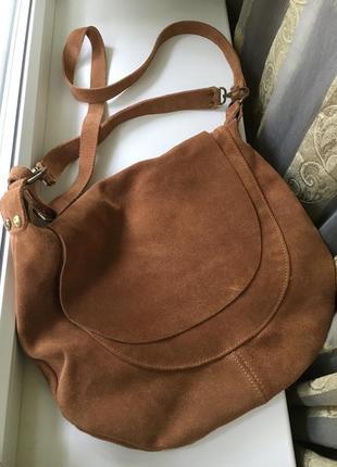 Натуральная замшевая сумка италия