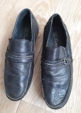 Туфли черные на мальчика 32 размер