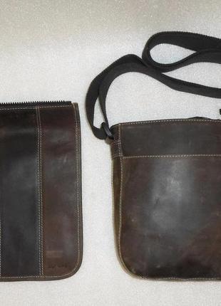 Универсально брутально crossbody *zip it bag* кожа мех