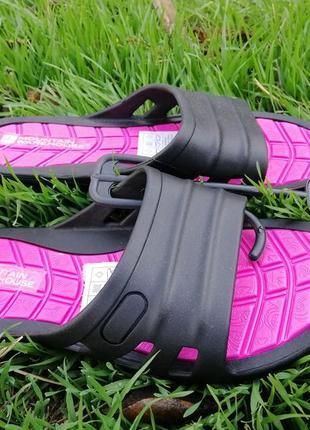 Шлепанцы розовые черные резиновые оригинал