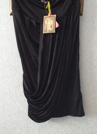 Отличная черная туника с драпировкой love label