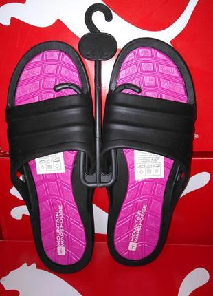 Шлепанцы розовые черные резиновые