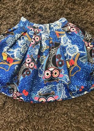 Стильная юбка для стройняшки, совы 🦉 🦉 🦉