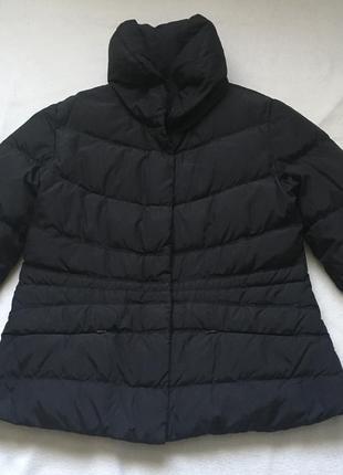 Куртка пуховая 90% натуральный пух чёрная из италии