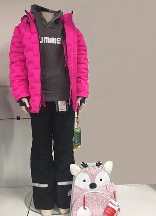 Детский зимний костюм раздельный комбинезон для девочки lego wear р.128-134