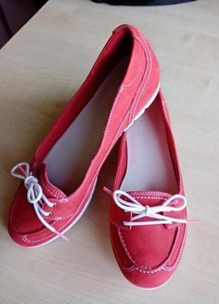 Замшевые спортивные мокасины. кожаные туфли. 26.5 см.