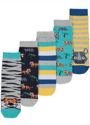 Набор носков мальчику р.23-26 животные george (джордж)