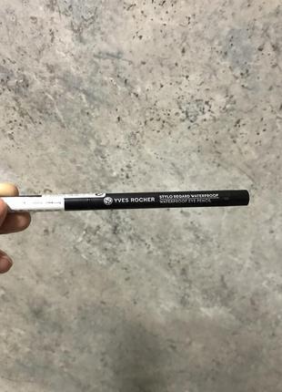 Водостійкий олівець для контуру очей чорний yves rocher