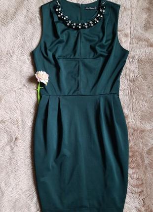 Платье изумрудного цвета kira plastinina, s (44)