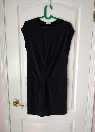 Летнее платье с заниженной талией из натуральной ткани