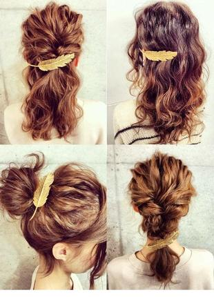Заколка для волосся перо, заколка для волос перо