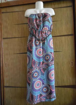 Платье сарафан «в пол» boohoo размер 16(44)– идет на 50-52.
