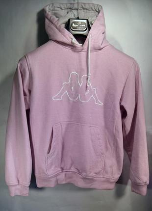 Нежно розовый свитшот худи kappa