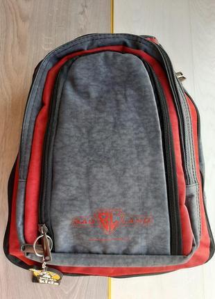 Детский рюкзак  bagland (серо-красный)