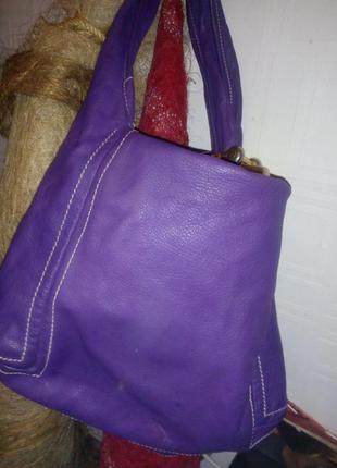 Кожанная сумка jimmy choo