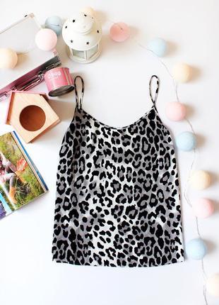 Sale!!! леопардовая майка, блуза на тонких бретелях next